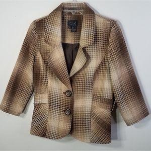 EUC CR tan/brown blazer size 8